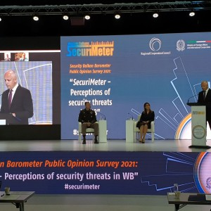 Photo: RT @amer_kap - We have officially launched findings of the first public opinion survey on a wide range of security issues in the Western Balkans. #Securimeter conducted in January and February among 6,045 respondents across #WesternBalkans. See more: https://rcc.int/securimeter/