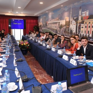 Photo: RT: @rccint - Society should provide young people with knowledge & skills to resist the negative influence of extremists and radicalized groups - RCC with over 30 student participants of the Community Dialogue with Youth at Risk held in Tirana on 5 March 2020