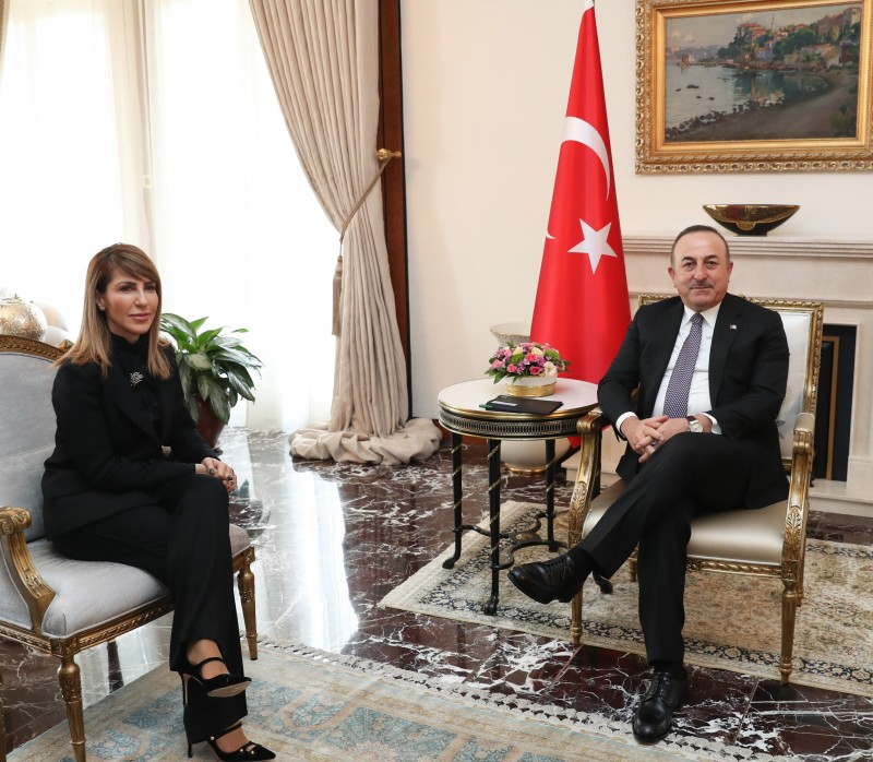 Majlinda Bregu, Secretary General of the Regional Cooperation Council (RCC) at the meeting with Mevlüt Çavuşoğlu, Minister of Foreign Affairs of Turkey in Ankara on 10 February 2020 (Photo: Courtesy of Turkish MFA)