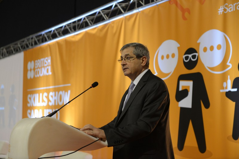 RCC Deputy Secretary General, Gazmend Turdiu at the opening of the first regional 'Skills Show', organized by British Council and supported by RCC, held in Sarajevo, 16-17 December 2016. (Photo: British Council/Denis Ruvic)