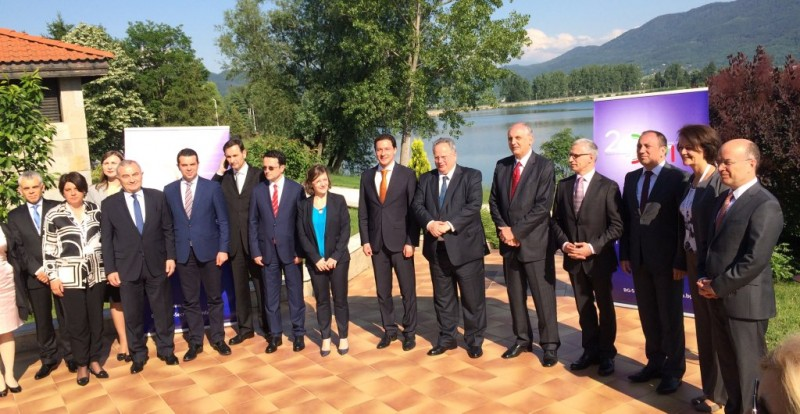 The foreign ministers of the South-East European Cooperation Process (SEECP) endorsed the Annual Report of the Regional Cooperation Council (RCC) 2015-2016 and the new three-year Strategy and Work Programme (SWP) of the RCC today in Pravets (Bulgaria). (Photo: EC/Kjartan Bronsson)