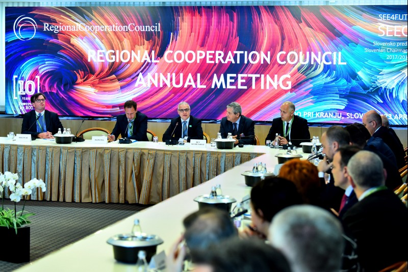 10th RCC Annual Meeting, held on 23 April 2018 in Brdo pri Kranju, Slovenia. (Photo: RCC/Tamino Petelinsek)
