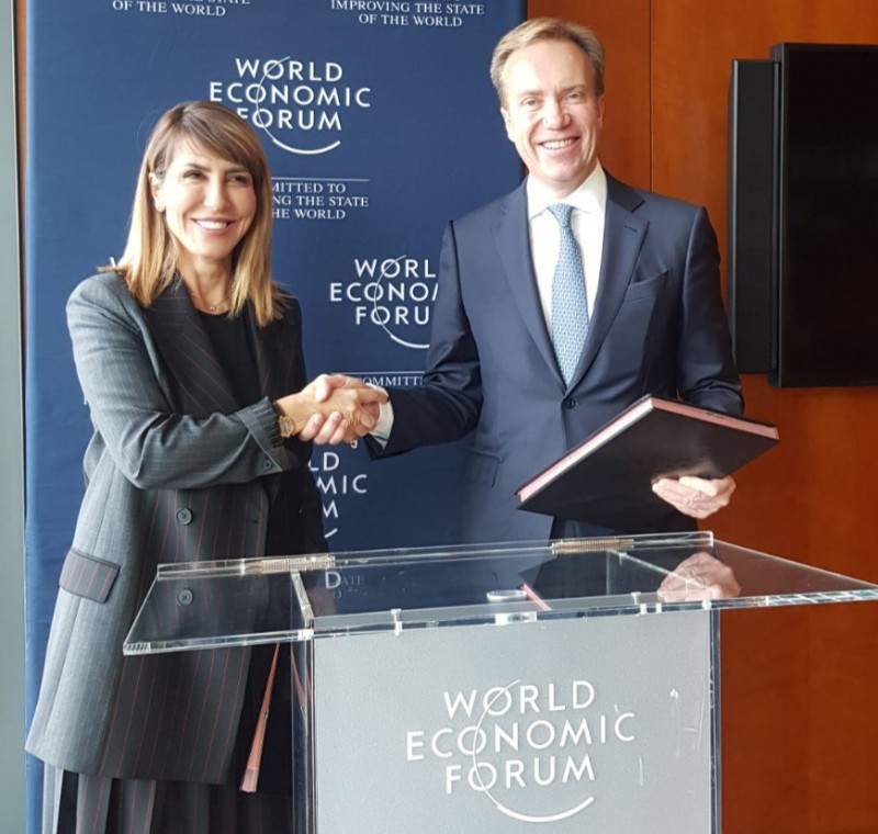 RCC signs Memorandum of Understanding with World Economic Forum (WEF) on accelerating regions competitiveness and innovation, in Geneva on 8 November 2019 (Photo: RCC/Maja Handjiska-Trandafilova)
