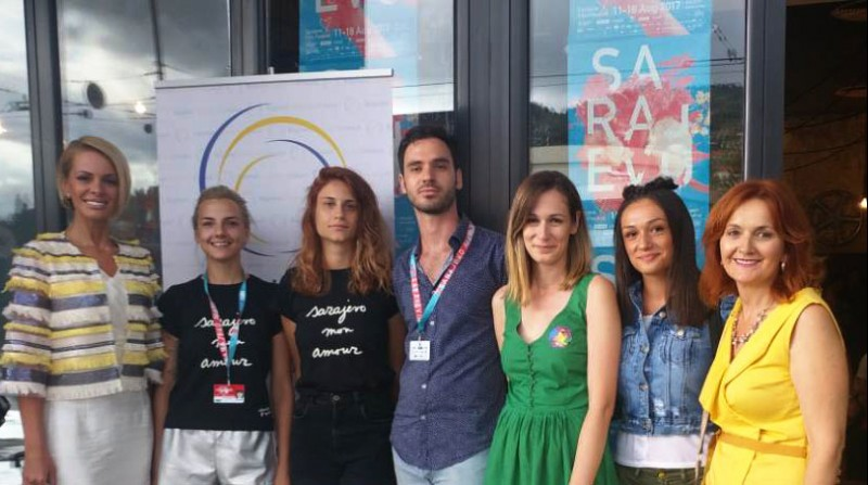 RCC and authors of student movies at the 23rd Sarajevo Film Festival, on 18 August 2017 in Sarajevo, BiH. (Photo: Alma Arslanagic-Pozder)
