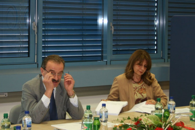 RCC Secretary General Hido Biščević (left) and Deputy RCC Secretary General Jelica Minić, at the meeting with World Bank Vice President Shiego Katsu, Sarajevo, 16 July 2008. (Photo RCC/Selma Ahatović-Lihić)