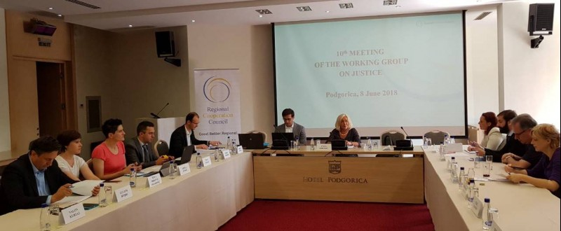 10th meeting of the Western Balkans Working Group on Justice (WB WGJ), in Podgorica, 8 June 2018 (Photo: RCC/Elvira Ademovic)