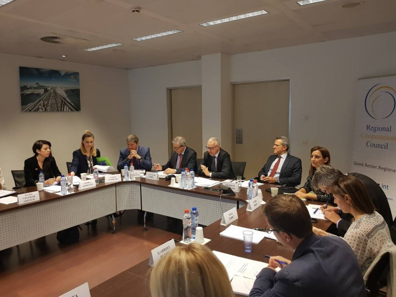 Participants of the 1st Meeting of the Lead Negotiators on Mutual Recognition of Professional Qualifications, in Brussels on 8 October 2018 (Photo: RCC/Nadja Greku)