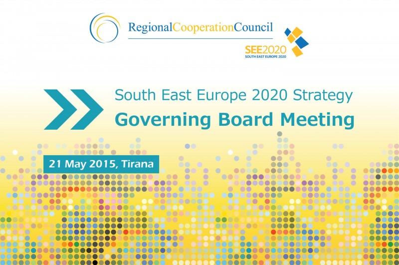 South East Europe 2020 Strategy Governing Board Meeting, 21 May 2015, Tirana, Albania. (Photo: RCC)