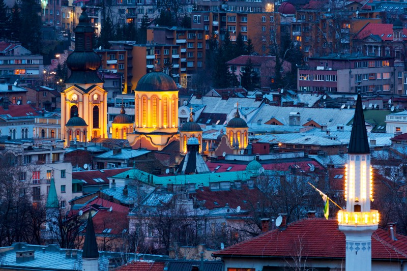 Within two hundred meter radius in downtown Sarajevo one can visit Catholic and Orthodox Cathedrals, Mosques and Synagogues. (Photo: Shutterstock)
