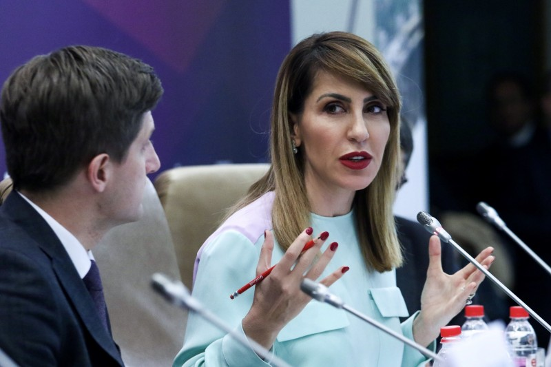 Majlinda Bregu, Secretary General of the Regional Cooperation Council (RCC) at the Annual Meeting and Business Forum of the European Bank for Reconstruction and Development (EBRD) in Sarajevo on 9 May 2019 (Photo: RCC/Armin Durgut)