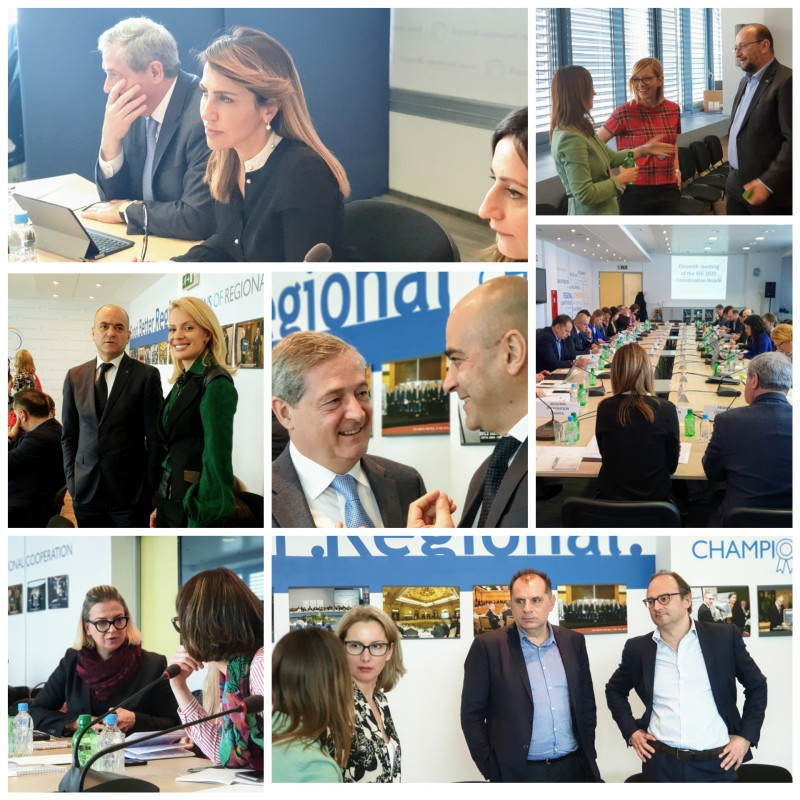 SEE 2020 Strategy's Coordination Board met for 11th time in Sarajevo on  21 March 2019 (Photo:RCC/Alma Arslanagic-Pozder)