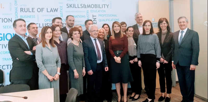 Participants of the Western Balkans' Working Group on Justice at RCC Secretariat in Sarajevo, 12 March 2019 (Photo: RCC/Alma Arslanagic Pozder)