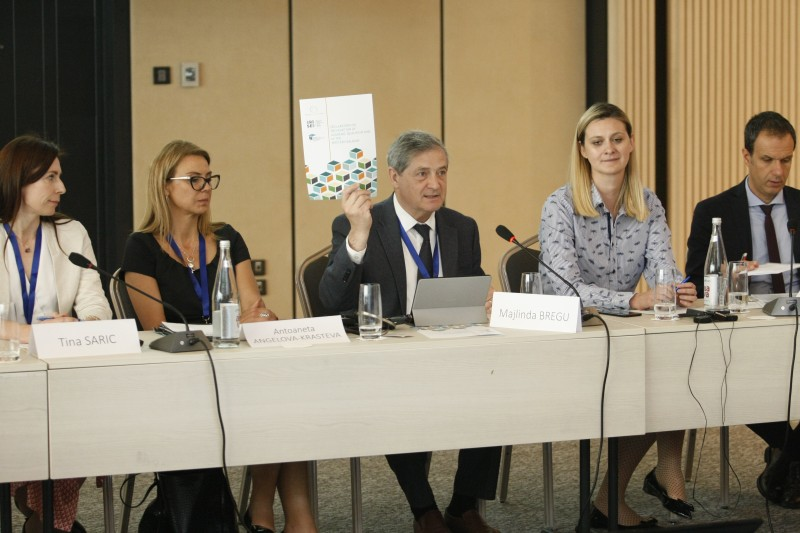Gazmend Turdiu, Deputy Secretary General of the Regional Cooperation Council (RCC), during the discussions with the line ministers from the region devoted to the recognition of academic qualifications in the Western Balkans, in Belgrade, 4 June 2019 (Photo: RCC/Beta/Emil Vaš)
