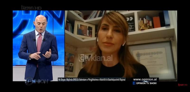 RCC Secretary General Majlinda Bregu spoke at the Tirana based RTV Klan's Opinion show on 19 March 2020