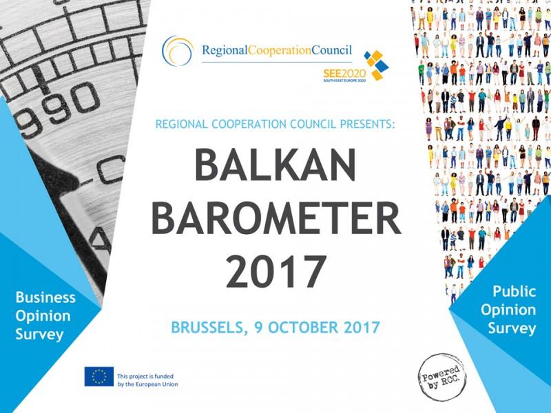 RCC presents Balkan Barometer 2017 on 9 October 2017 in Brussels. (Photo: RCC)