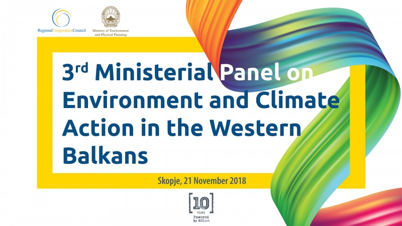 Skopje to host 3rd Ministerial Panel on Environment and Climate Action in the Western Balkans on 21 November 2018 (Illustration: RCC/Sejla Dizdarevic)