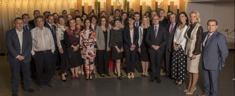 Participants of the 5th Annual meeting of the Regional Cooperation Council's (RCC) South East Europe 2020 Strategy (SEE 2020) Governing Board, held in Brussels on 5 July 2018 (Photo: RCC/Jerome Hubert)