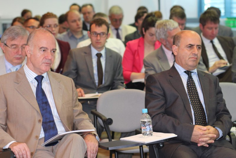 The RCC Secretariat briefs the diplomatic community in Sarajevo of results in implementing the RCC Strategy and Work Programme 2011-2013, the outcome of the RCC Annual Meeting held in Ohrid last month, and the state of regional cooperation in South East Europe. Sarajevo, Bosnia and Herzegovina, 17 June 2012. (Photo: RCC/Selma Ahatovic-Lihic)