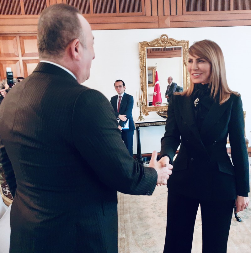 Majlinda Bregu, Secretary General of the Regional Cooperation Council (RCC) met with Mevlüt Çavuşoğlu, Minister of Foreign Affairs of Turkey in Ankara on 10 February 2020 (Photo: RCC/Selma Ahatovic-Lihic)