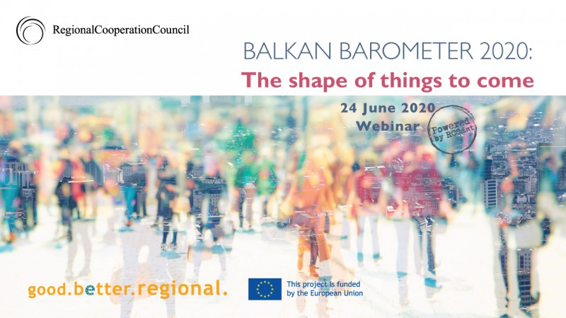 Launch of Balkan Barometer 2020 to take place on 24 June 2020 (Illistration: RCC/Sejla Dizdarevic)