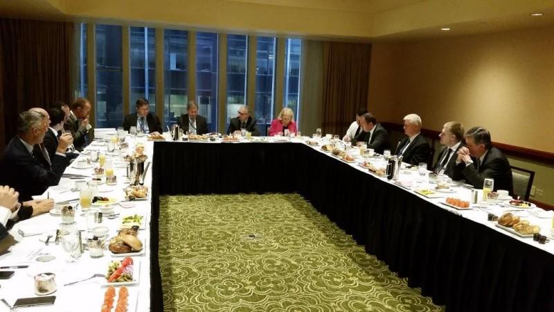 RCC Secretary General, Goran Svilanovic (seventh right), at a meeting on 30 September 2015 in New York, USA. (Photo: RCC/Natasa Mitrovic)