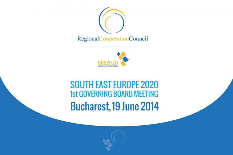 The First Meeting of the SEE 2020 Strategy Governing Board takes place on 19 June 2014 in Bucharest, Romania. (Photo: RCC)