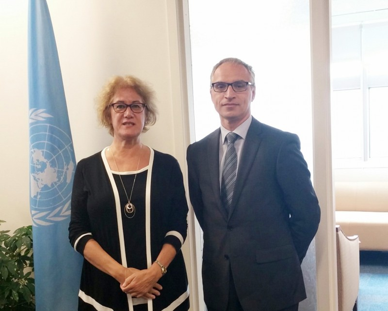 RCC Secretary General, Goran Svilanovic (right) meets Ms. Cihan Sultanoğlu, Assistant Administrator and Director of the Regional Bureau for Europe and the Commonwealth of Independent States of the UNDP, on 30 September 2015 in New York, USA. (Photo: RCC/Natasa Mitrovic).