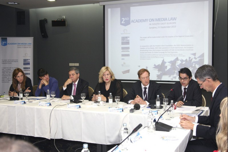 2nd RCC's Academy on Media Law took place on 3-5 September 2013 in Sarajevo, BiH. (Photo RCC/Zoran Kanlic)