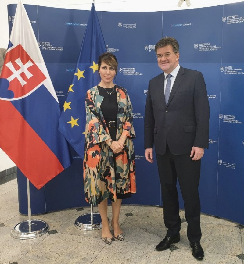 The Secretary General of the Regional Cooperation Council, Majlinda Bregu, met with Minister of Foreign Affairs of the Slovak Republic, Miroslav Lajcak, in Bratislava on 8 June 2019 (Photo: RCC/Amer Kapetanovic)