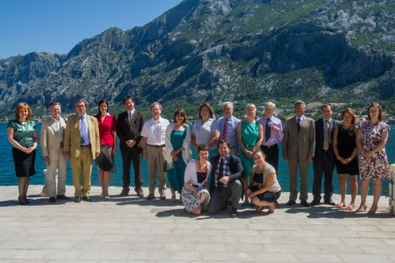 Participants of the third meeting of the Regional Cooperation Council Task Force on Culture and Society, held in Prcanj, Montenegro, on 27-28 June 212. (Photo: Courtesy of RCC's Task Force on Culture and Society)
