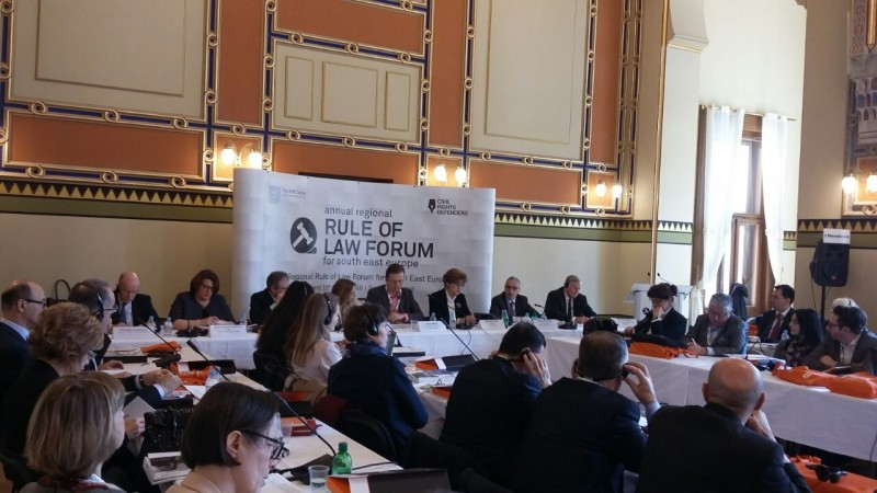 The Third Regional Rule of Law Forum for South East Europe takes place on 18 March 2016, in Sarajevo, BiH.  (Photo: RCC/Nenad Sebek)