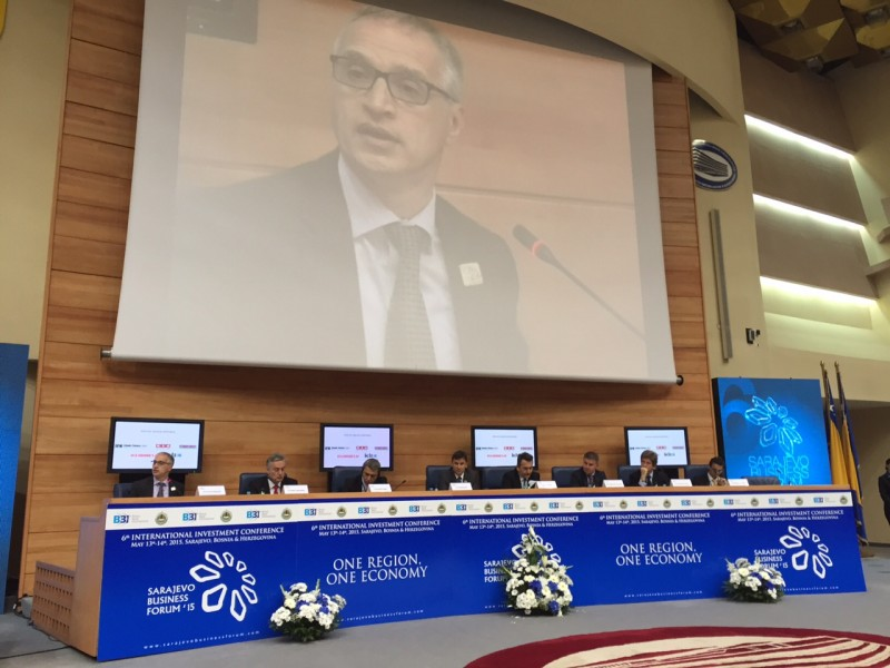 "RCC Secretary General, Goran Svilanovic, hosted panel ""One Region – One Economy"" at the 6th Sarajevo Business Forum, on 13 May 2015. (Photo: RCC/Dragana Djurica)"