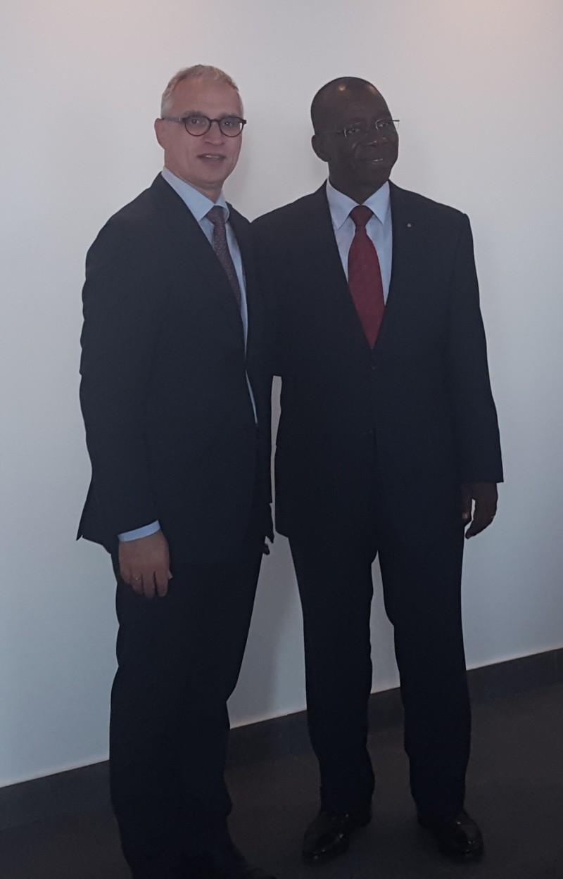 RCC Secretary General Svilanovic met with Brahima Sanou, ITU's Director of Telecommunication Development Bureau in Budva, on 27 September 2016 (Photo: RCC/Maja Handjiska Trendafilova)
