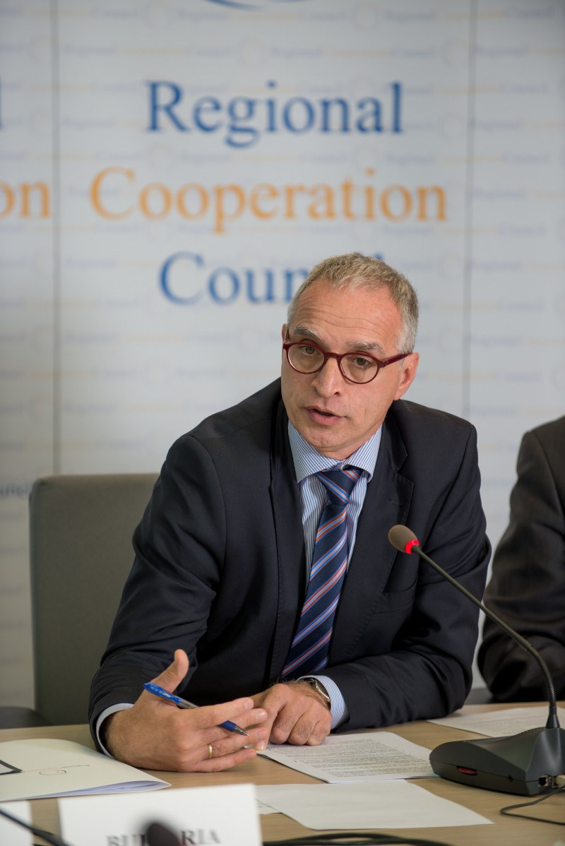RCC Secretary General, Goran Svilanovic, addressing the RCC Board on 15 October 2015 in Sarajevo (Photo: Amer Kapetanovic)