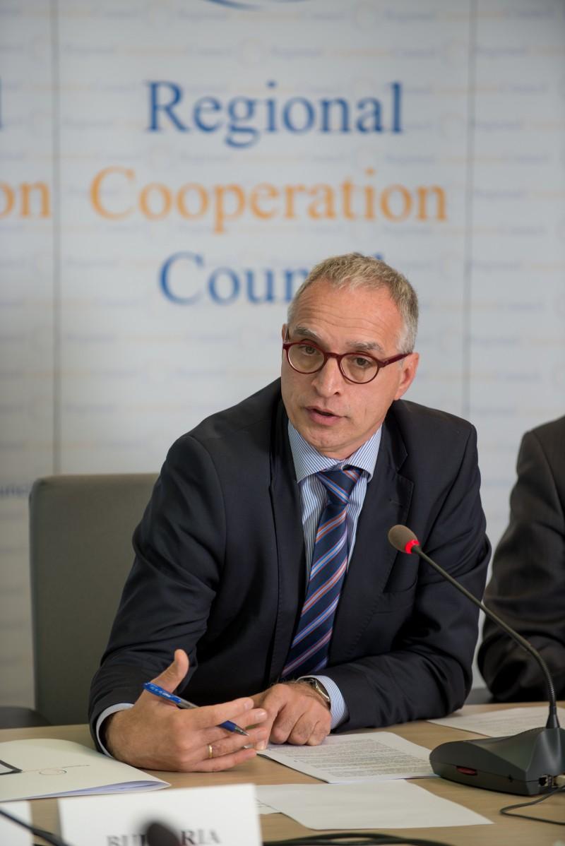 RCC Secretary General, Goran Svilanovic, addressing the RCC Board on 15 October 2015 in Sarajevo (Photo: Amer Kapetanovic)