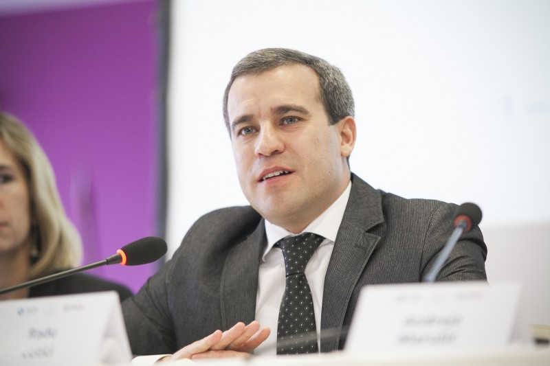 RCC's Expert on Governance for Growth-Public Administration Reform and Anticorruption, Radu Cotici, at the Regional Conference Better Regulation and Competitiveness  in Western Balkans, held in Belgrade, 1-2 December 2016  (Photo: ReSPA/Ivan Zupanc)