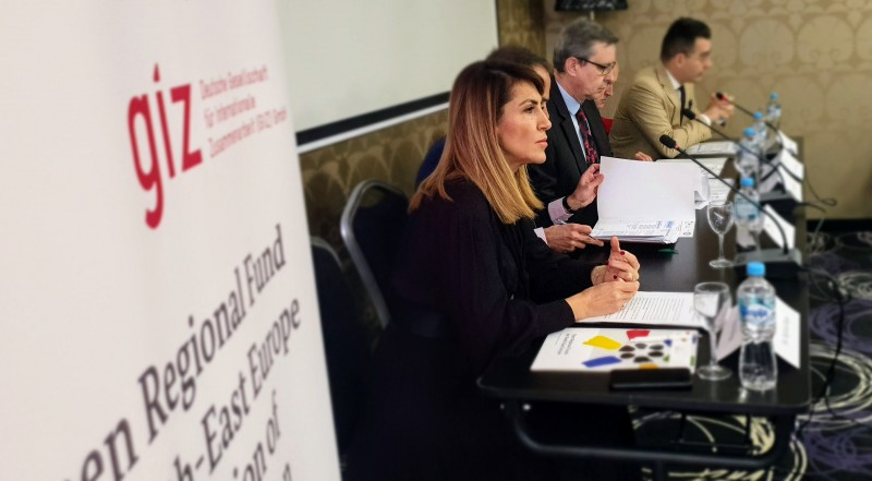 RCC Secretary General Majlinda Bregu addressing the Berlin Process Coordination Meeting of the WB6 Ministries of Foreign Affairs on 24th of April 2019 in Sarajevo (Photo: RCC/Alma Arslanagic-Pozder)