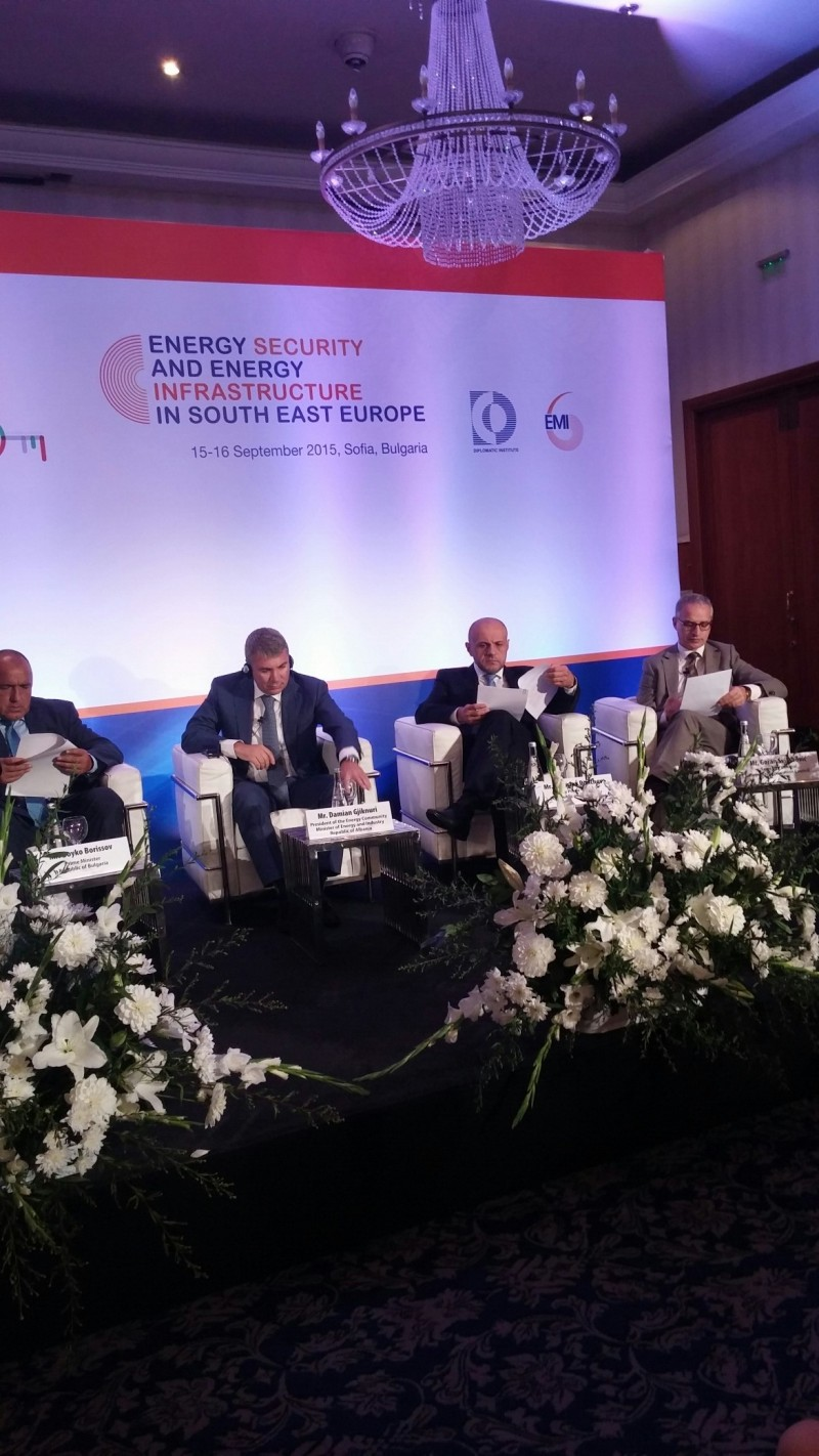 RCC Secretary General, Goran Svilanovic (first right), at a conference on energy security and energy infrastructure in South East Europe, in Sofia on 15 September 2015. (Photo: RCC/Stefana Greavu)