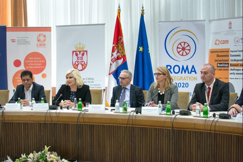 Opening of the regional conference on economic situation of Romani women in the European Union enlargement region, in Belgrade on 31 October 2018 (Photo: RCC/Nemanja Brankovic)