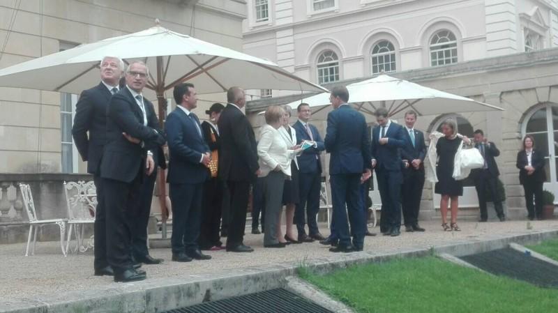 RCC Secretary General, Goran Svilanovic, with European leaders at Western Balkans London Summit, 10 July 2018, London, UK. (Photo: RCC)