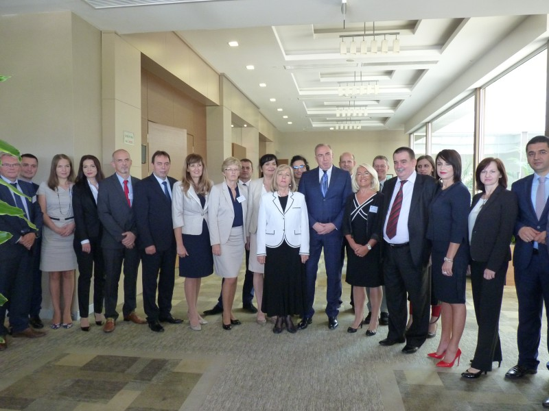 Participants and representatives of The Southeast European Prosecutors Advisory Group (SEEPAG), Southeast European Law Enforcement Center (SELEC) and Regional Cooperation Council (RCC) at the Conference on the Joint Investigation Teams held in Podgorica, Montenegro on 20 September 2016. (Photo: SELEC/Sonia Schachter)