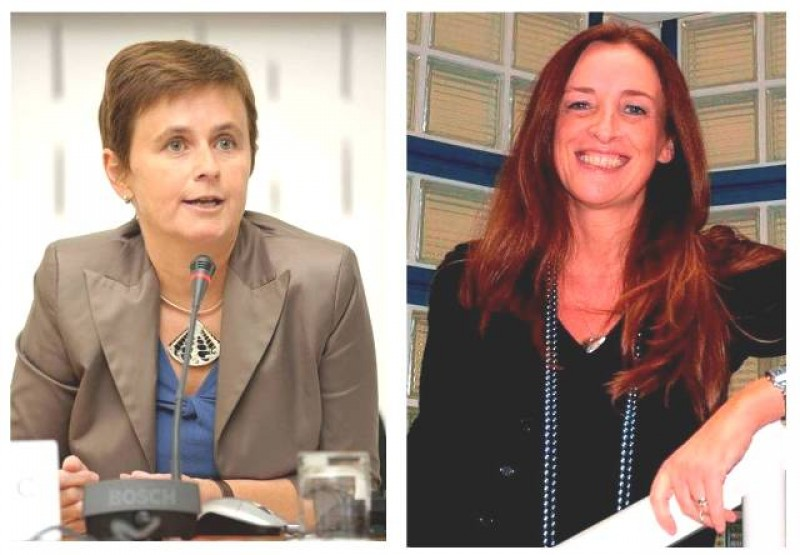 Ulrike Damyanovic and Simona Rinaldi, European Training Foundation (ETF), Turin, Italy (Photo: courtesy of Mss Damyanovic and Rinaldi)