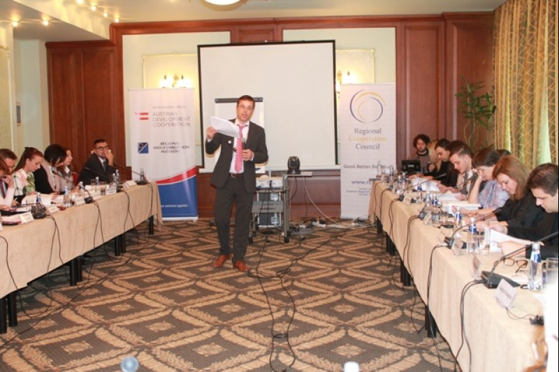 Exchanging data in the field of asset disclosure and conflict of interest focus of the 3rd Regional Meeting of the Oversight Bodies, Sofia, Bulgaria. (Photo: courtesy of RAI)