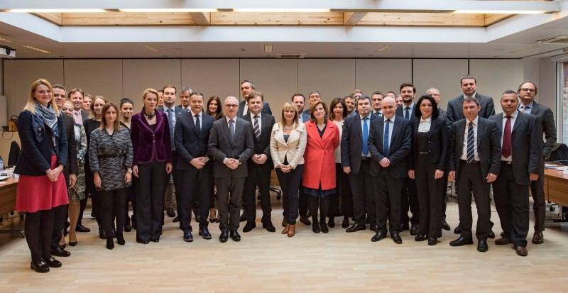 Participants of the first Meeting of MAP Coordinators, held in Brussels on 31 October 2017. (Photo: RCC/Jerome Hubert)