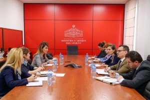 RCC Secretary General Majlinda Bregu meets the Minister of Education, Sport and Youth of Albania, Besa Shahini, on 1 February 2019 in Tirana. (Photo: Courtesy of the Ministry of Education, Sport and Youth)