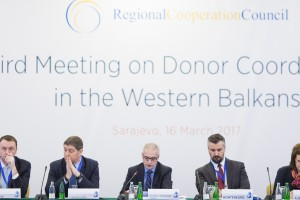 RCC hosts Third Meeting on Donor Coordination in the Western Balkans, on 16 March 2017 in Sarajevo, BiH. (Photo: RCC/Haris Calkic)