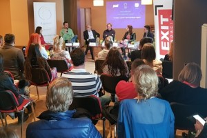 "RCC Secretary General Goran Svilanovic took part in the panel discussion of informal citizens' group from the Western Balkans ""Silent Balkan Majority titled ""Tourism, culture and sports connect the region"", as a part of the RCC's support to the newest edition of EXIT Festival – Festival 84, that officially opened on Olympic mountain Jahorina, near Sarajevo, 15 March 2018 (Photo: RCC/Ratka Babic)"