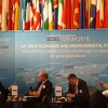 RCC Secretary General, Goran Svilanovic (first left), takes part in the 24th OSCE Economic and Environmental Forum, in Prague, on 14 September 2016. (Photo: RCC/Dorin Vremis)