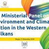 Skopje to host 3rd Ministerial Panel on Environment and Climate Action in the Western Balkans