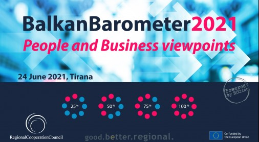 RCC to Present Balkan Barometer 2021 - Public and Business Viewpoints on Situation in our Region